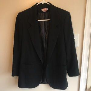 Lew anagram Black Wool Jacket Blazer